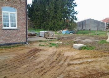 BVBA MUES - Bunsbeek : buiten aanleg rond nieuwbouw - Fotogalerij
